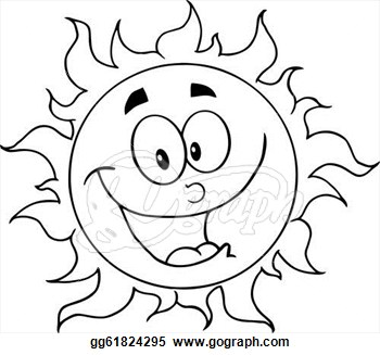 350x327 Sun Drawing Clipart