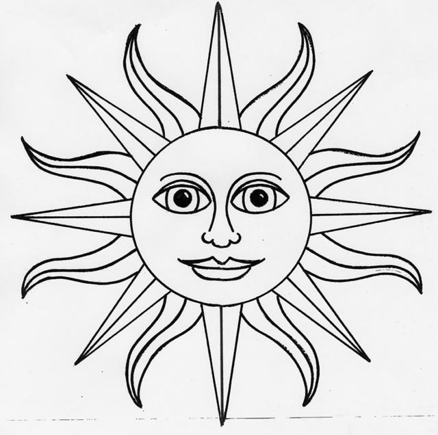 640x636 Collection Of Sun Line Tattoo Drawing