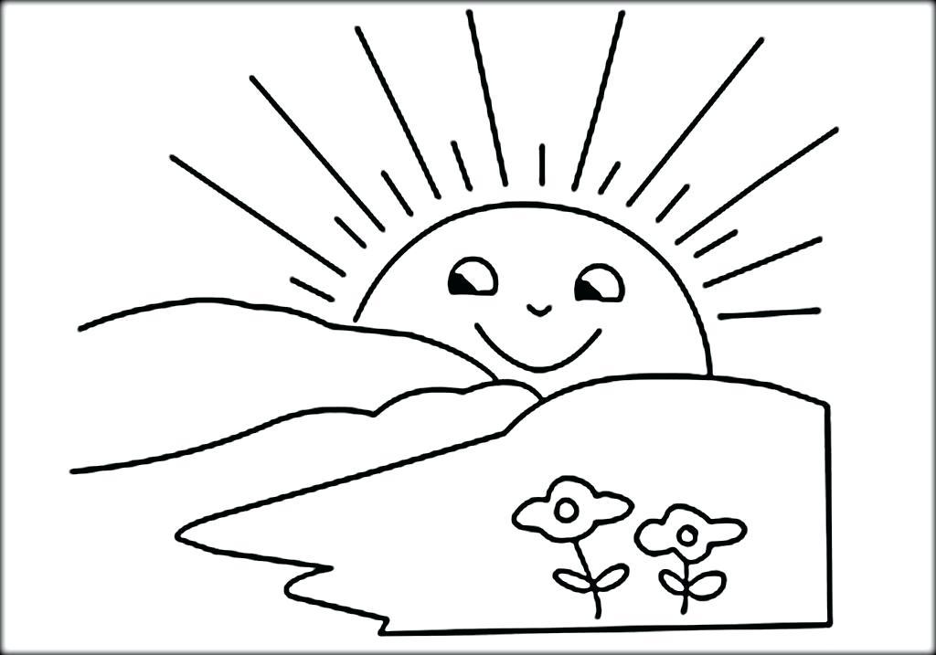 Sun Drawing For Kids At Getdrawings Com