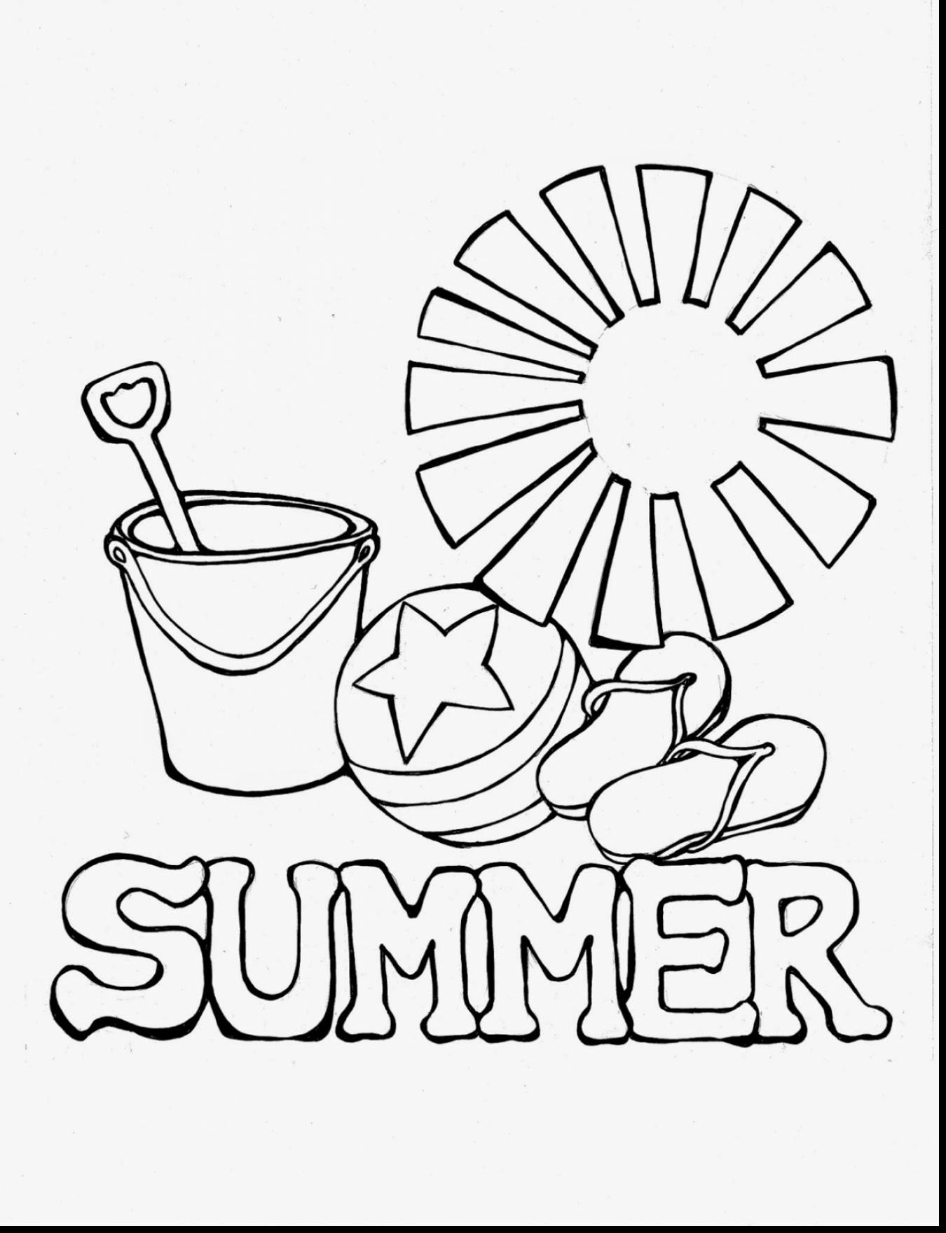 1350x1760 Summer Coloring Pages With Sun For Kids Luxury Summer Coloring