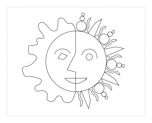 Sun Drawing Picture