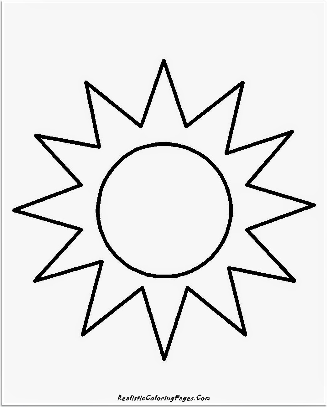 1044x1300 Sun Coloring Page