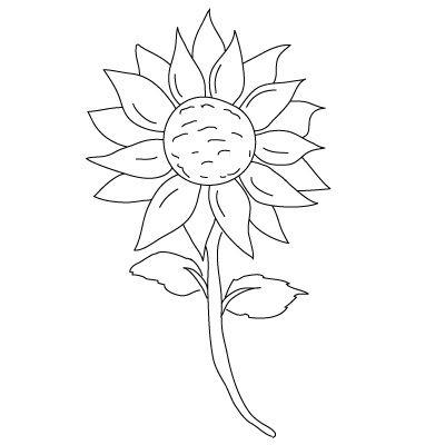 400x400 Sun Flowers To Draw