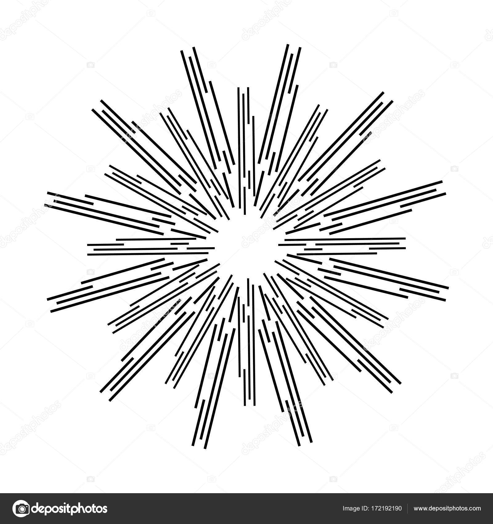 1600x1700 Sun Rays, Linear Drawing On A White Background Stock Vector