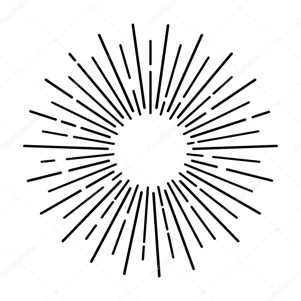 1024x1024 Sun Rays Hand Drawn Stock Vector 4zeva