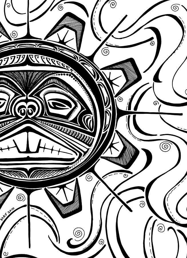 654x900 West Coast Sun Drawing By Marlene Jeffries