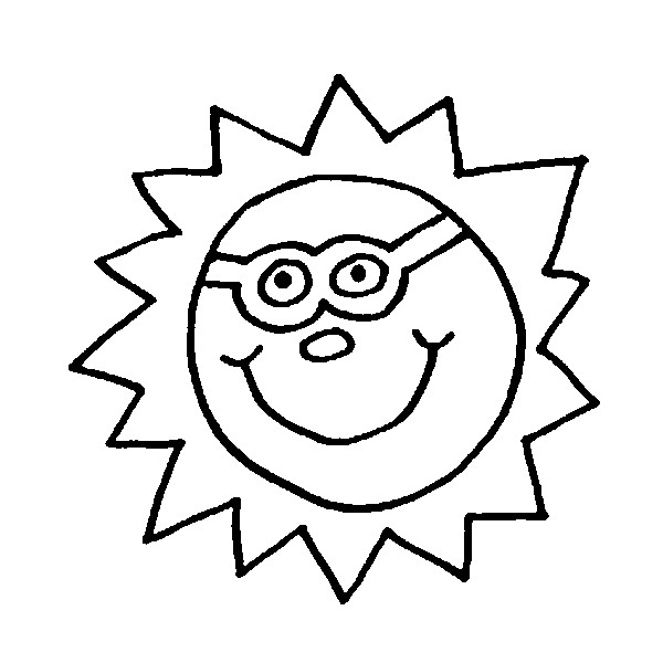 600x600 Coloring Pages Stars Sun Moon Drawing