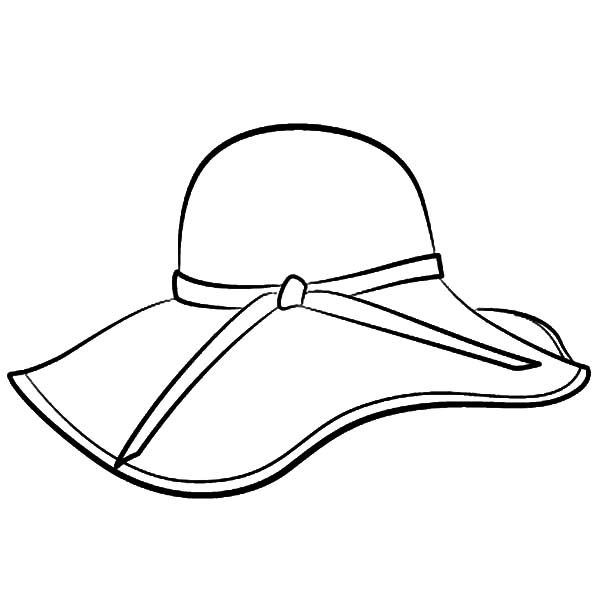 600x600 Hat For Colouring Coloring Page
