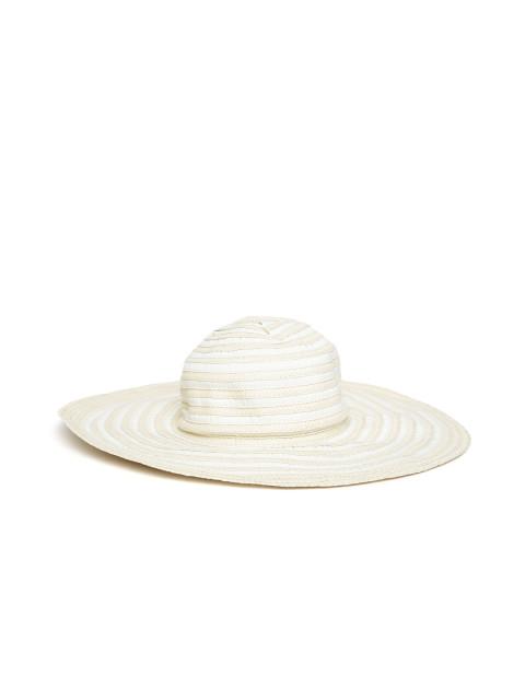 480x640 Buy Forever 21 Women Cream Coloured Striped Sun Hat