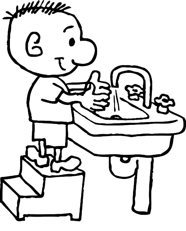 washing your hands coloring pages - photo#25