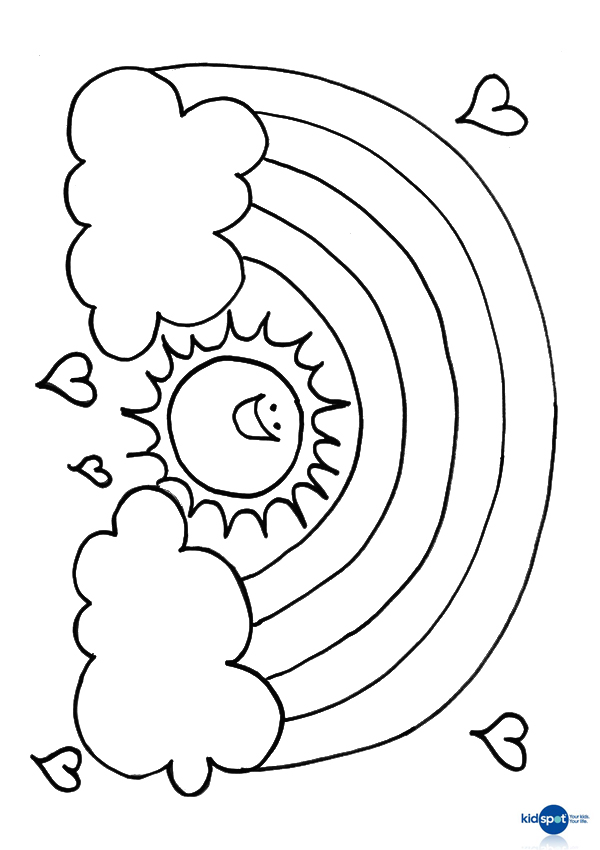 600x850 Free Online Rainbpw Sun Colouring Page Rainbows, Free And Craft
