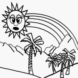 268x268 Mr Sun Coloring Page Kids Drawing And Coloring Pages