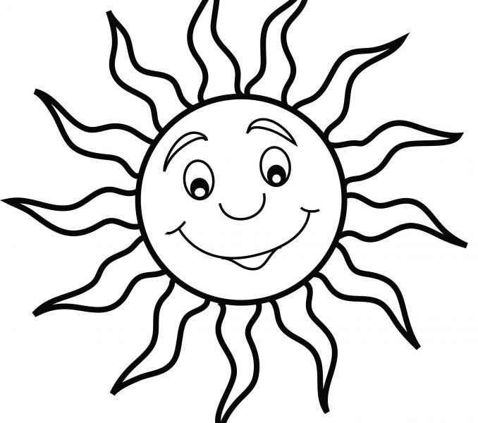 678x600 Coloring Page Of Sun Kids Coloring