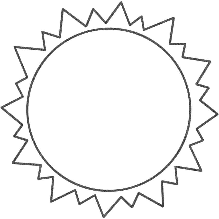 900x900 Printable Sun Template