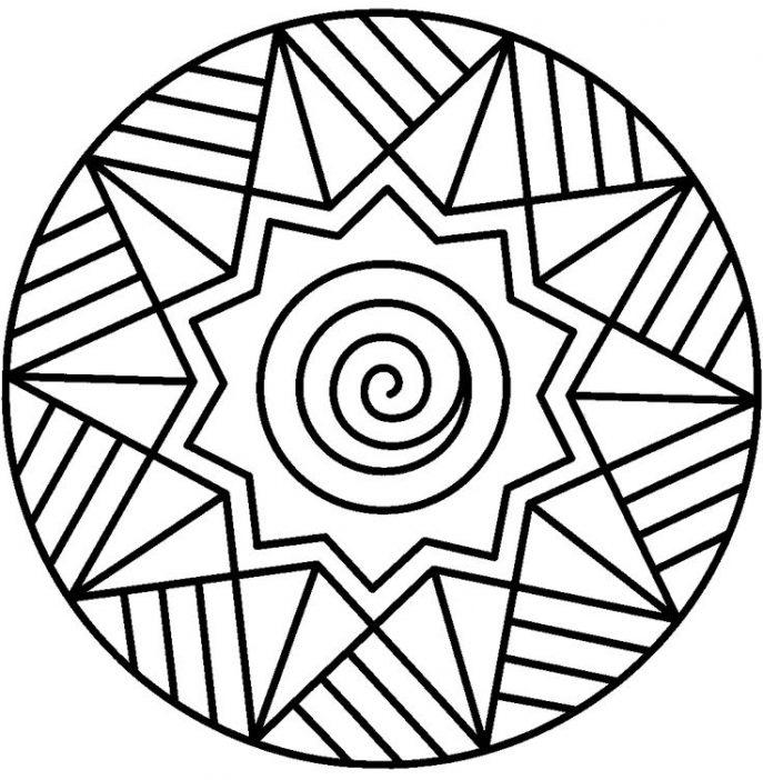 687x702 Coloring Pages Mandala For Kids Mandala For Free Mandala