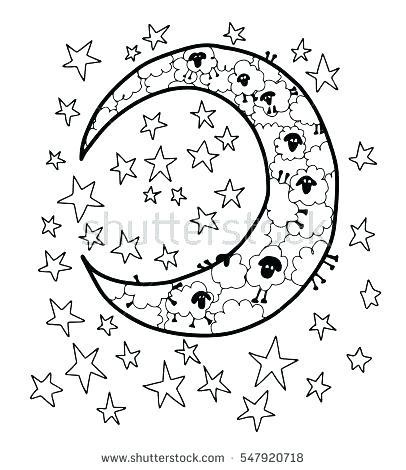 406x470 Moon And Stars Coloring Pages Luxury Moon And Rs Coloring Pages