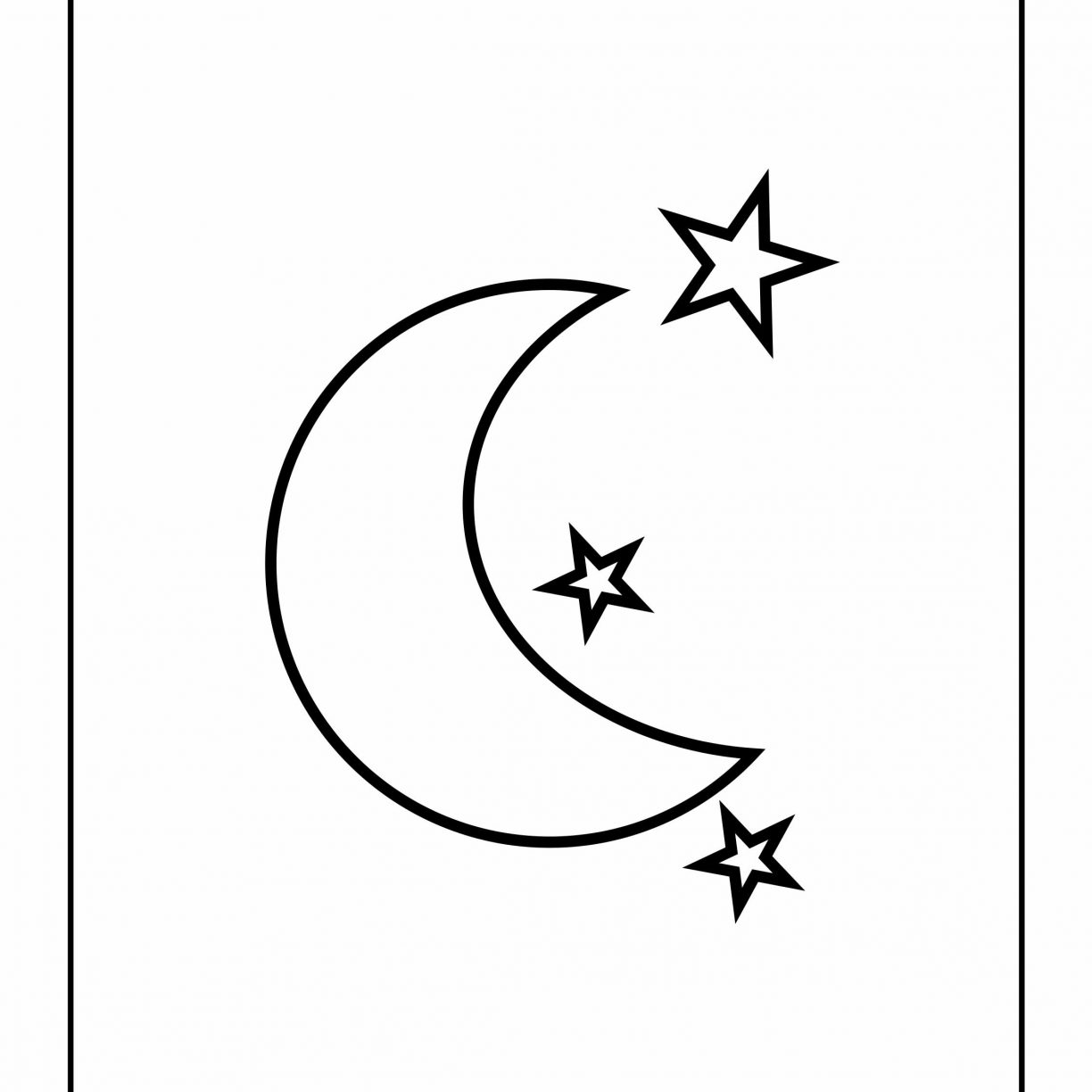 1224x1224 Sun And Moon Coloring Pages Free Stars Printable Kids For Adults
