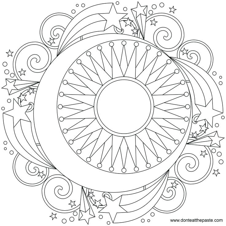736x736 Sun Moon Coloring Pages 6 Best Images Of Printable Sun