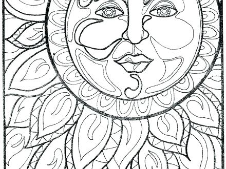 440x330 Sun And Moon Coloring Pages Sun And Moon Coloring Pages Sun Moon
