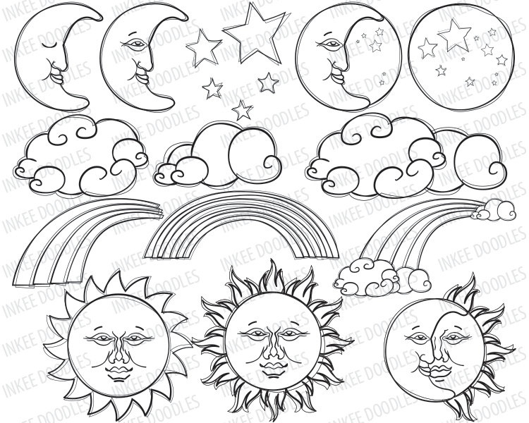 750x600 Sun Drawings Images
