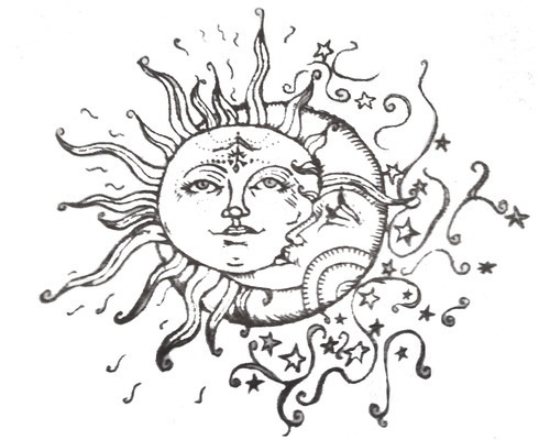500x400 Sun Moon Amp Stars Tattoo I Made A Plate And Crave This Exact Design