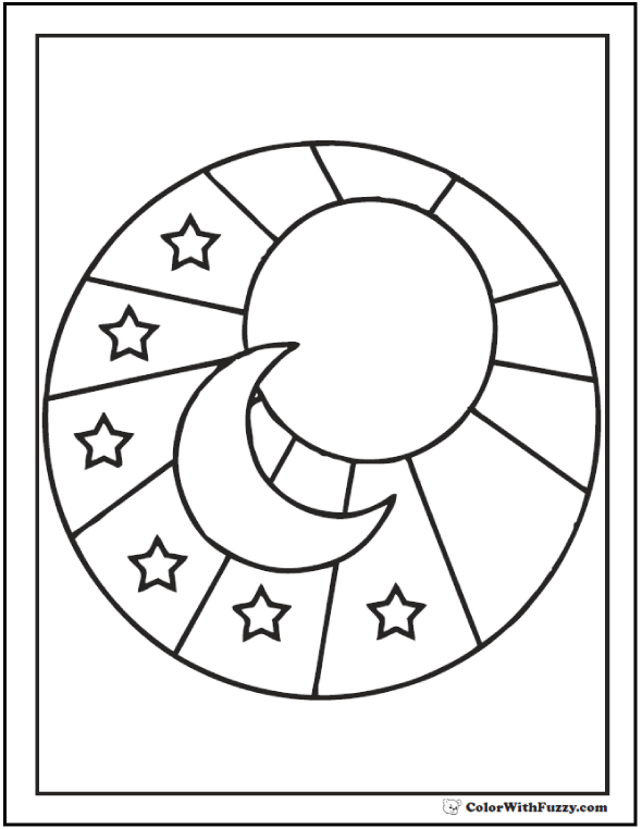 590x762 60 Star Coloring Pages Customize And Print Pdf