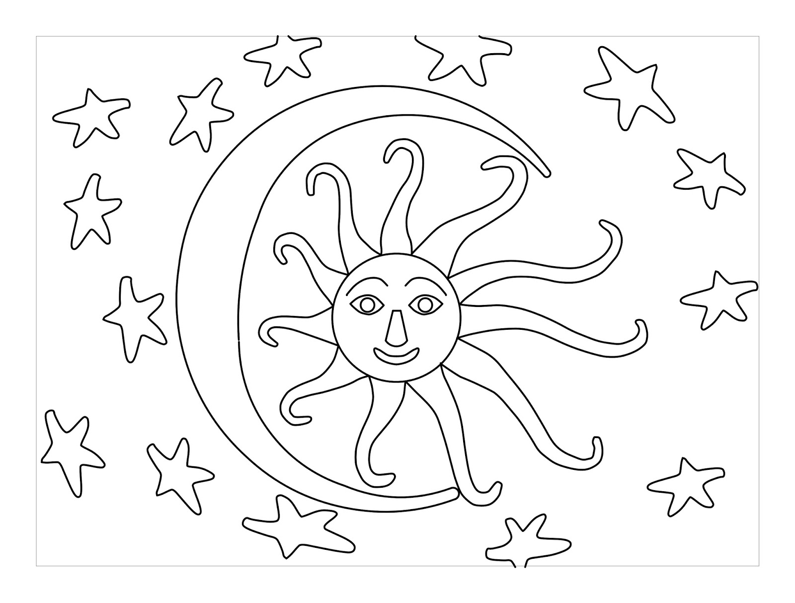 1600x1214 Pin Drawn Sun Simple Cartoon 2. Download Coloring Pages Sun