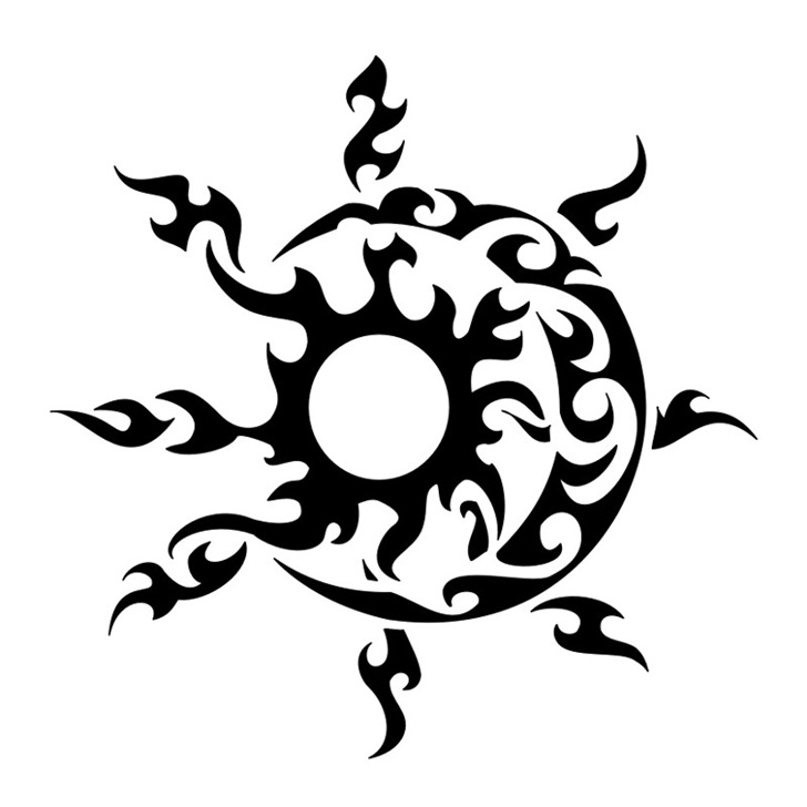 728x728 Collection Of Sun And Moon Tattoos Print