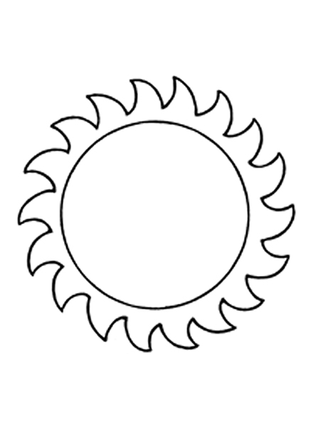 Line Drawing Setting Sun : Sun outline drawing at getdrawings free for personal
