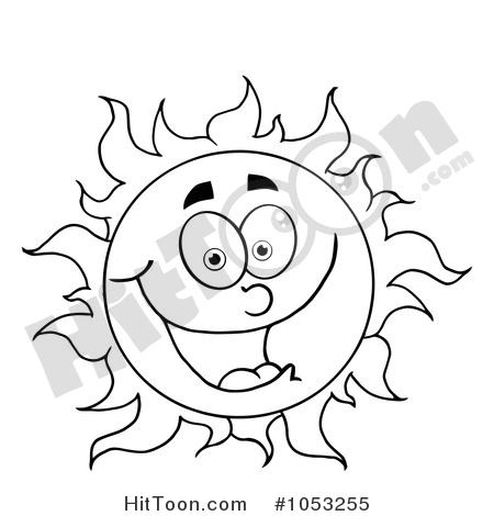 Sun Outline Drawing At Getdrawings Com