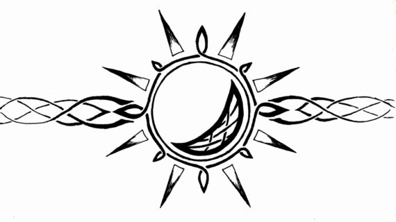 570x320 Moon And Sun Drawing Celtic Sun And Moon Armband By Mrbobafett