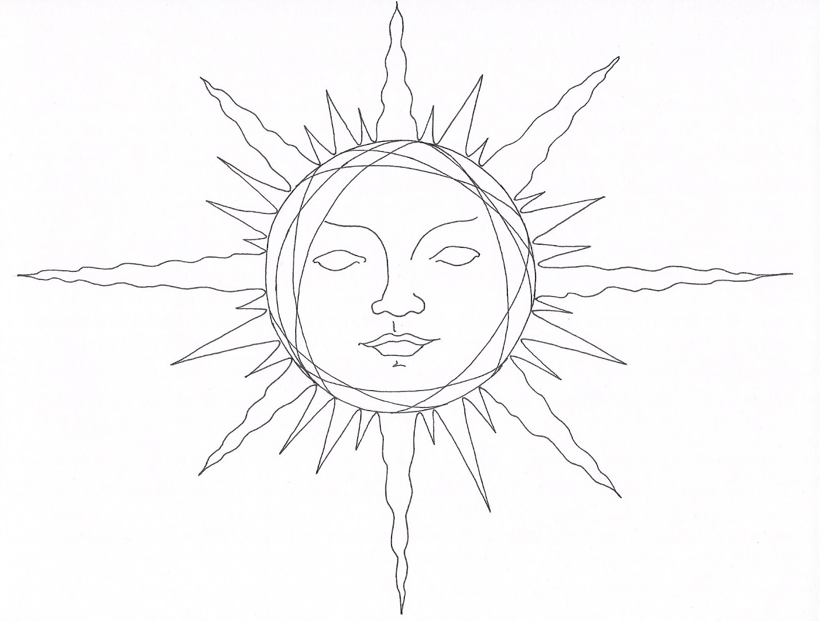 1600x1213 Pencil Drawings Of The Sun