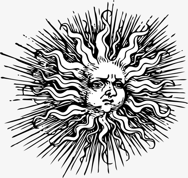 Sun Rays Drawing