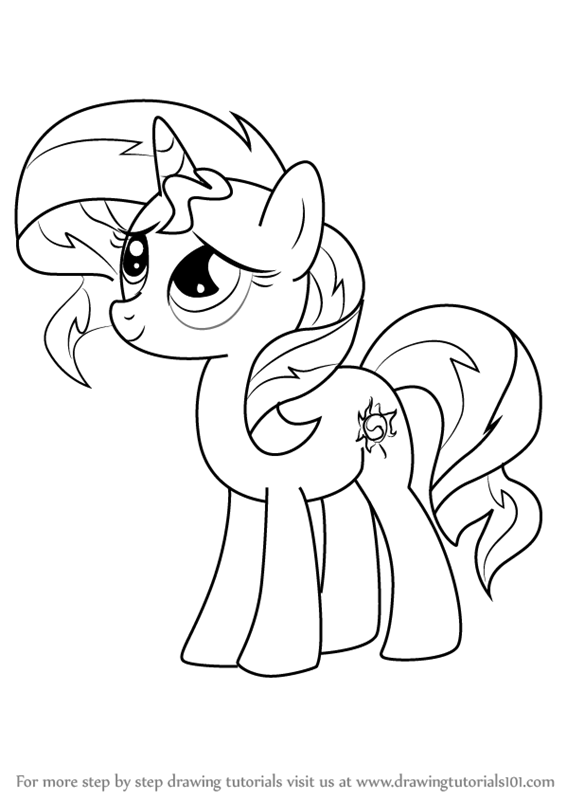 566x800 Learn How To Draw Sunset Shimmer Pony From My Little Pony