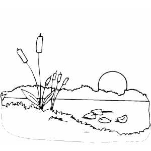 300x300 Sunset Coloring Page
