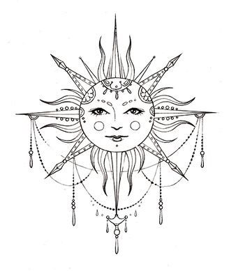 328x389 Bohemian Sun Tattoo Tattoos Amp Piercings Sun