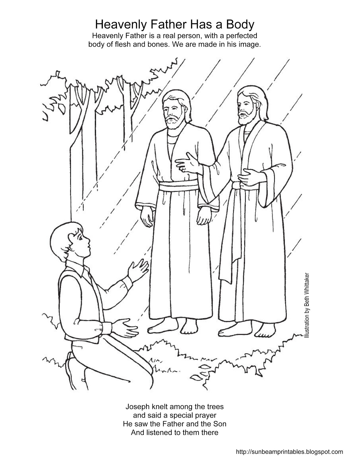 1236x1600 Sunbeam Printables Coloring Page For Lesson 2 Heavenly Father