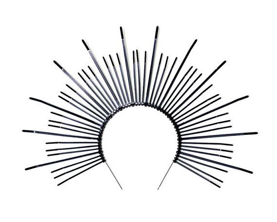 570x456 Mary Halo Crown Spiked Sunburst Headband
