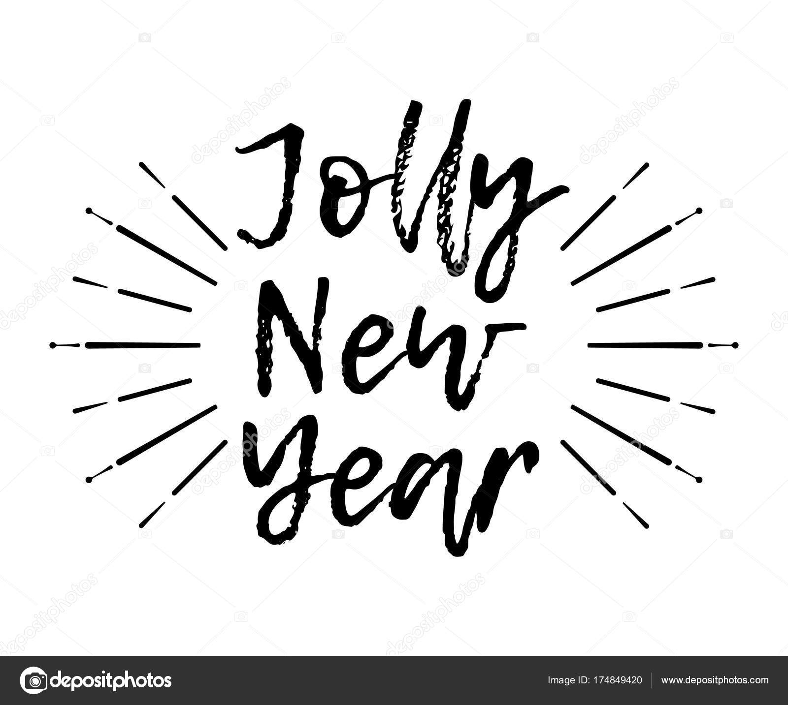 1600x1433 Merry Christmas Card With Sunburst And Calligraphy Jolly New Year