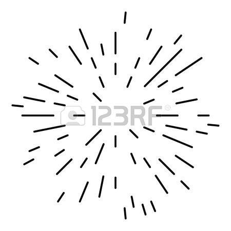 450x450 Starburst Or Sunburst Abstract Design Element. Vector Illustration