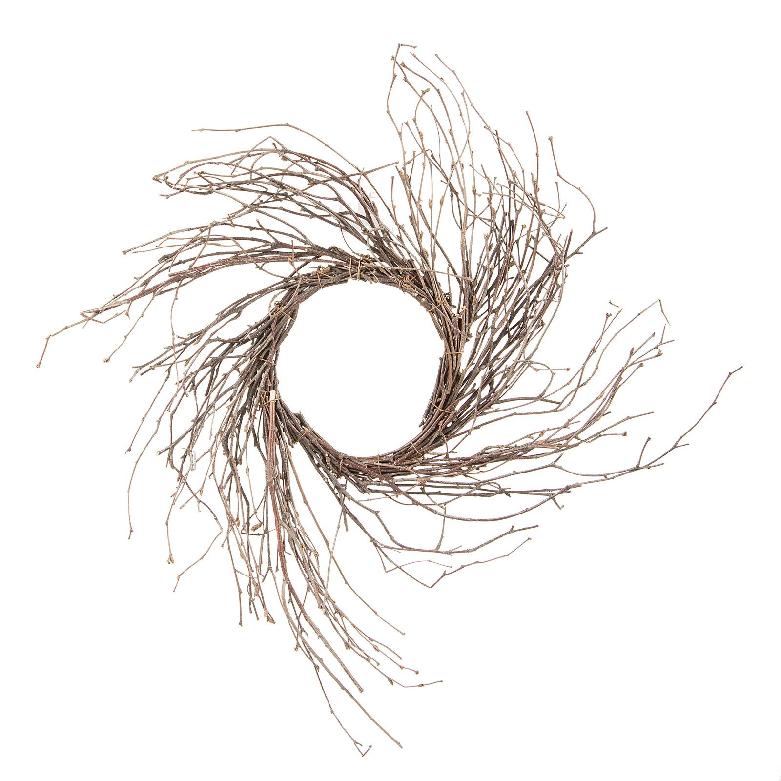 1600x1600 Twig Sunburst Wreath Natural Birch, 14 Inches