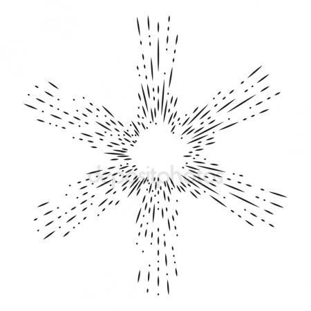 450x450 Hand Drawn Sunburst Vector