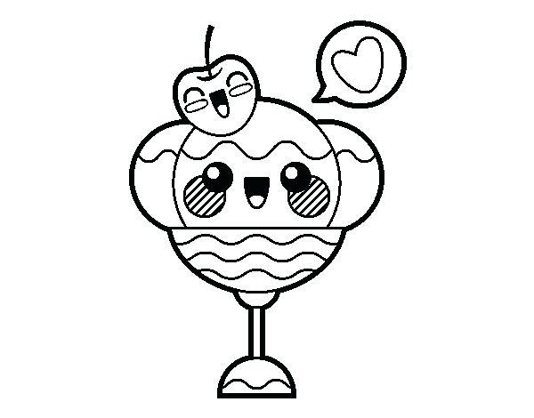 600x470 Top Rated Kawaii Coloring Pages Images Sundae Coloring Page Kawaii
