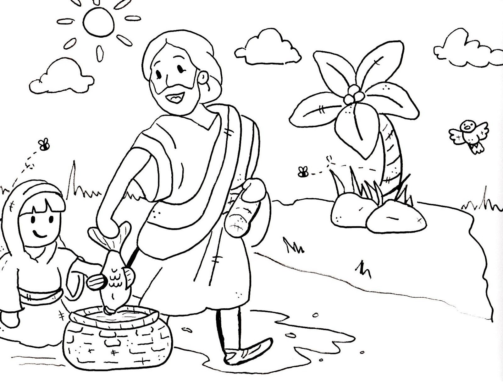 1600x1236 Sunday School Coloring Pages For Preschoolers Free Draw To Color