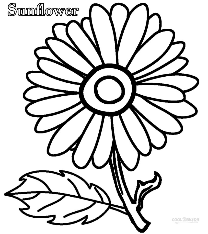 850x957 Printable Sunflower Coloring Pages For Kids Cool2bkids