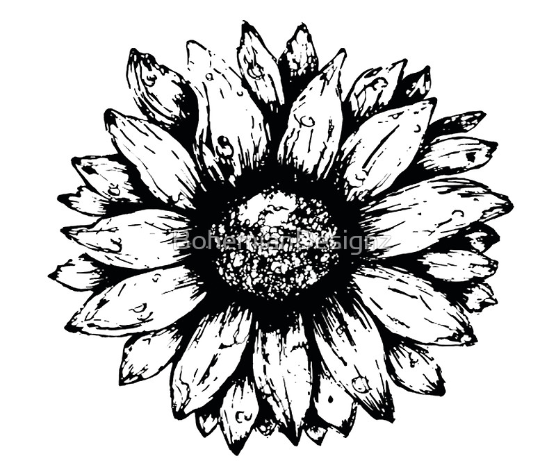 800x680 Black Amp White Sunflower Wall Tapestries By Bohemiandesignz