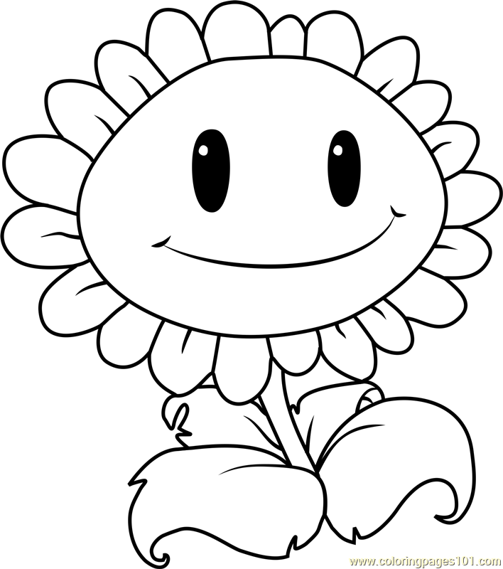 708x800 Giant Sunflower Coloring Page