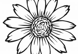 300x210 Simple Sunflower Drawing Simple Sunflower Drawing Illustration