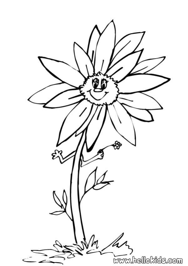 601x850 Sunflower Coloring Pages
