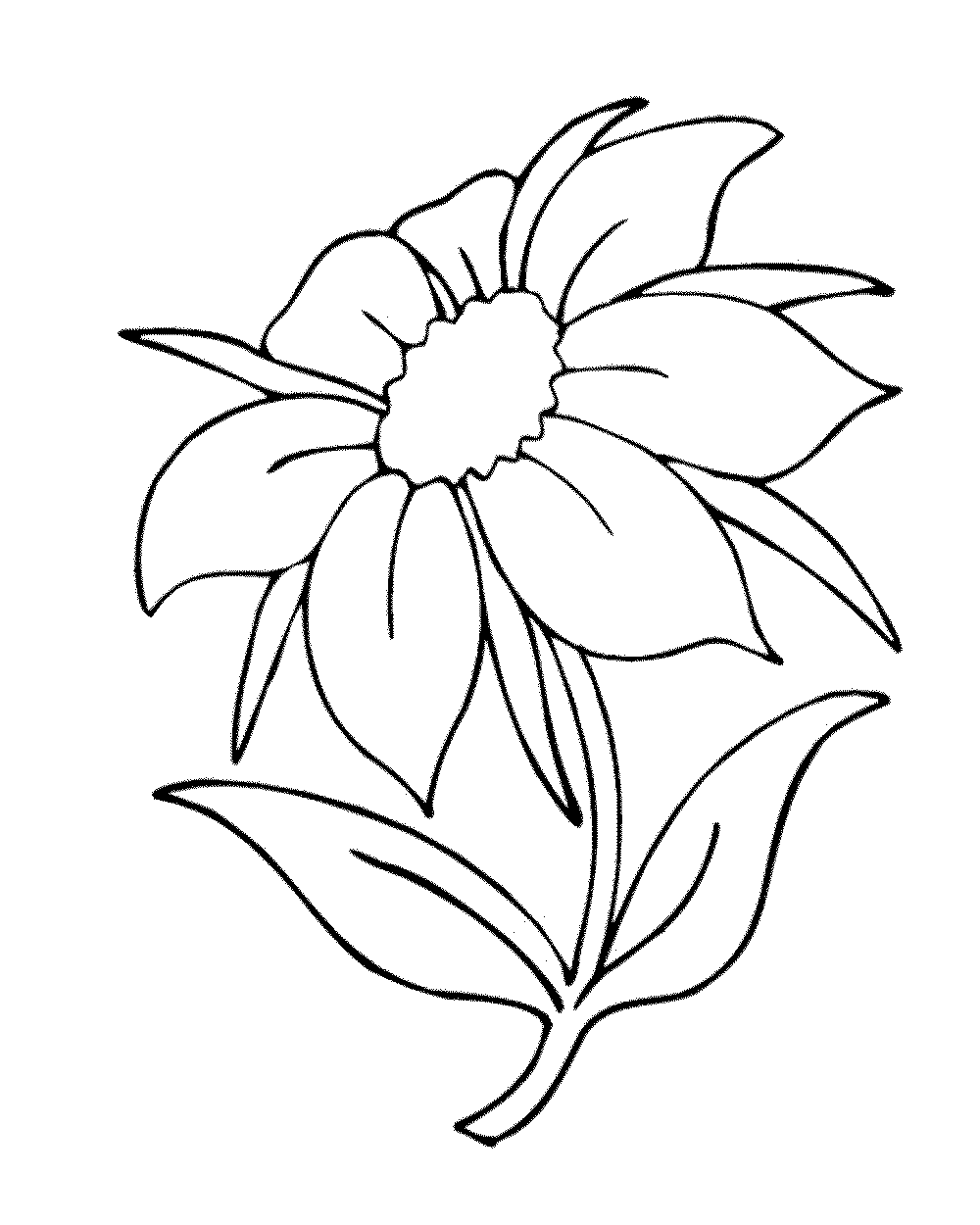Sunflower Drawing Easy at GetDrawings | Free download